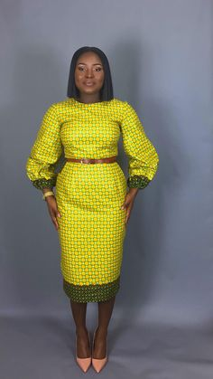 Amazing latest african fashion look African Dresses For Women, African Attire, African Wear, African Fashion Dresses, African Women, African Outfits, African Clothes, African Lace, African Style
