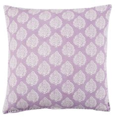 John Robshaw Textiles - Mali Lavender Decorative Pillow - Brinjal - PILLOWS. Idea for built-in seating under wall-mounted TV or for bed (depending upon bedding chosen).
