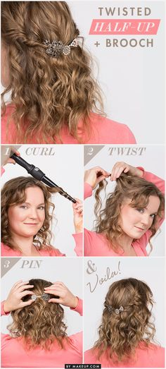 How-To: Jeweled Half-Up Twist // #hair