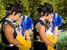 Gajeel and Levy from Fairy Tail cosplay. *fangirling so hard* Red Hair Cosplay, Cosplay Anime, Cosplay Outfits, Cosplay Costumes, Amazing Cosplay, Best Cosplay, Fullmetal Alchemist, Fairy Tail Levy, Gajeel And Levy