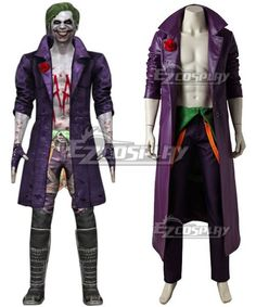 Injustice 2 Joker, Injustice 2 Characters, Joker Cosplay Costume, Buy Cosplay, Leather Pieces, Justice League, Motorcycle Jacket, Female, Cosplay Ideas