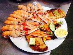 Freshly caught Langoustines at The Old Forge, Knoydart.