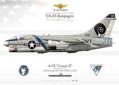 """A-7E """"Corsair II"""" VA-83 """"Rampagers"""" IK-89"""