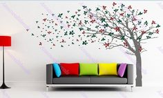 Cherry blossom tree wall decalswall decals children by annaandnana, $109.00 -- I want this for the bedroom :)