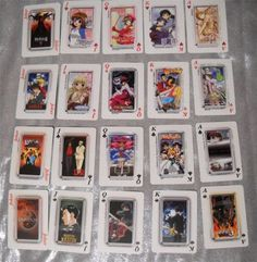 These cards came from the San Diego Comic Con in 2002. They were made by the now defunct Anime company, Pioneer. They have characters from alot of popular Anime on them. Sold!