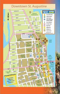st augustine florida, map to get aquainted and plan where ...