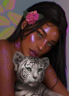 New Digital Art Animals Zodiac Signs Ideas Art Black Love, Black Girl Art, Cartoon Kunst, Cartoon Art, Cartoon Drawings, Female Cartoon, Cartoon Memes, Art Zodiaque, Art Magique
