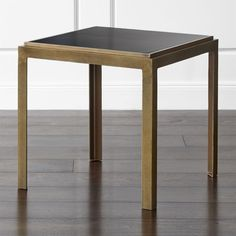 Accent your sofa and chairs with end tables from Crate and Barrel. Choose from a variety of sizes and designs to find a table that suits you best. Home Office Furniture, New Furniture, Custom Furniture, Iron Table, A Table, Modular Table, Bronze Floor Lamp, Furniture Inspiration, Crate And Barrel