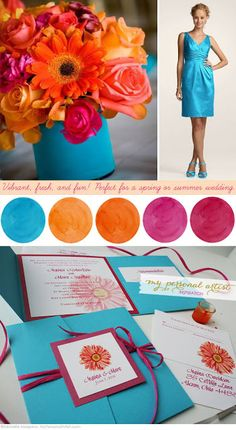summer wedding color ideas, blue and the orange.maybe not that bright of blue on a ribbon wrapped around vase wedding colors september / fall color wedding ideas / color schemes wedding summer / wedding in september / wedding fall colors Trendy Wedding, Unique Weddings, Our Wedding, Dream Wedding, Wedding Ceremony, Orange Weddings, Wedding Mandap, Wedding Stage, Wedding Receptions