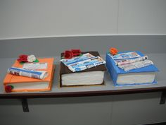 Three Book Cakes For Fairfax media by Lisa Templeton, via Flickr