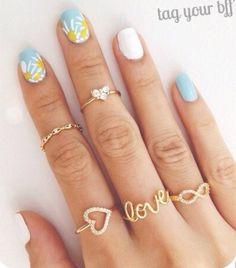 Daisy & light blue