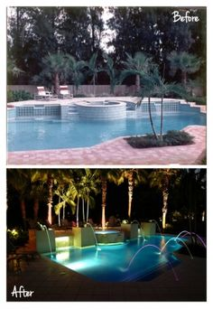 Light Show Remodel Above Ground Pool, In Ground Pools, Pool Remodel, Luxury Pools, Pool Water, Exterior Design, Landscape, Gallery, Outdoor Decor