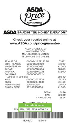 ASDA guaranteed that their prices would be at least 10% cheaper than their competitors, and offered a service where one could check the prices online after purchasing and receive a coupon for the difference in price, plus 10%.