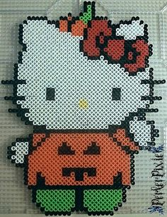 Pumpkin Hello Kitty - Halloween perler beads by PerlerPixie on deviantART