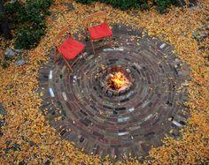 Brick fire pit.