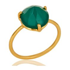 Green Onyx Ring, Green Onyx Engagement Rings, Green Onyx Jewelry,... (£6.17) ❤ liked on Polyvore featuring jewelry, rings, birthstone engagement rings, birthstone jewelry, gemstone engagement rings, engagement rings and birthstone rings