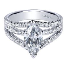 Marquise Engagement Ring with Split Shank by Gabriel & Co. #ER8902W44JJ