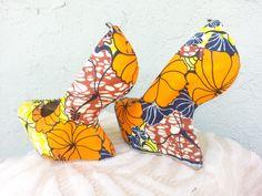 Ankara shoes /heels.via Etsy.