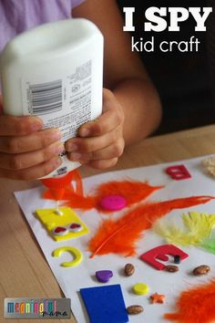 DIY I Spy Art for Kids