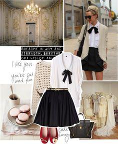 """school girl (2) ."" by mademoiselledeea ❤ liked on Polyvore"