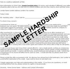 hardship letters to mortgage company