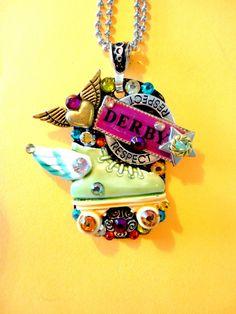 Roller Derby Dog Tag Pendant Number 896. $34.99, via Etsy.