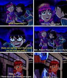 Poor Starfire...did Robin apologise for this? I can't remember...