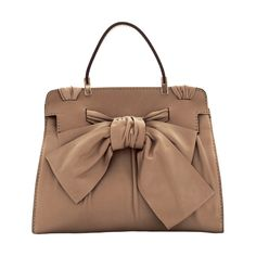 Valentino 'Aphrodite' Top Handle Leather Satchel ($1,995) ❤ liked on Polyvore featuring bags, handbags, purses, borse, bolsas, nordstrom accessories, brown leather purse, leather satchel handbags, leather man bag and leather purse
