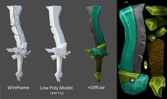 Game Model - Sword - Breakdown by ~Grimnor on deviantART