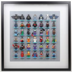 Lego Batman Minifigure Display with Ikea Ribba Frame Revisited | BrickKnight