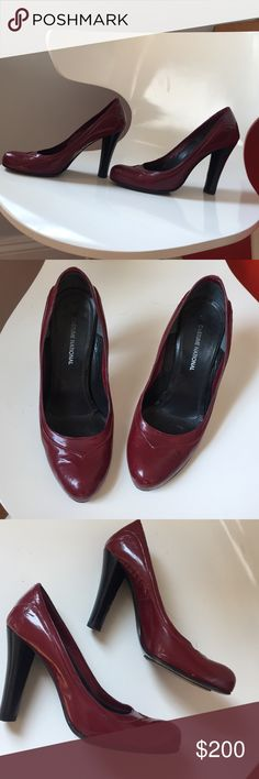 CoSTUME NATIONAL Red Pumps Amazing condition minor wear and a very small bump inside the heel that no one can see. 6.5 Shoes Heels