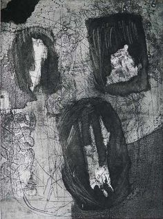 Louise Nevelson, Untitled (Totem), etching, 1965-66