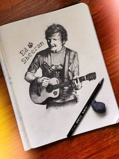 This great sketch. | 21 Pieces Of Ed Sheeran Fan Art That Are Actually Amazing