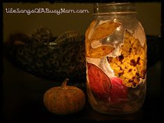 Life Songs Of A Busy Mom: Fall Leaves Votive Jar