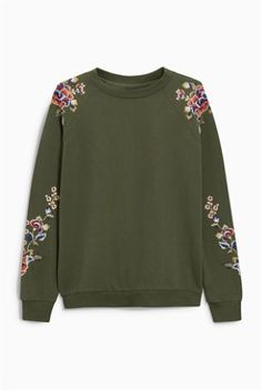 Buy Embroidered Sweat Top online today at Next: Israel