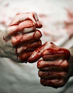 Cor/tom/textura de sangue verossímil