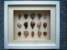 Paleolithic Arrowheads in 3D Frame, Authentic Saharan Artifacts 70,000BC (N008)