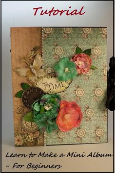 Designs by Shellie: FREE TUTORIAL - LEARN TO MAKE A MINI ALBUM FOR BEG...