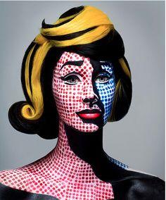 Roy Lichtenstein Inspired Body Paint