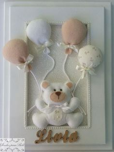 Baby Crafts, Felt Crafts, Diy And Crafts, Baby Kranz, Baby Shawer, Baby Memories, Felt Decorations, Felt Patterns, Felt Toys