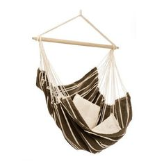 The handwoven Brazil Hammock Chair is the ultimate in hanging chair comfort. Spacious and comfortable, this hammock chair is perfect for indoor and outdoor use! Outdoor Hammock Chair, Hanging Hammock Chair, Swinging Chair, Hanging Chairs, Swing Chairs, Hammock Ideas, Indoor Hammock, Cacoon Hammock, Indoor Swing