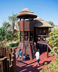A timber playstructure is an excellent addition to your garden that will allow your kids to climb, swing and have fun in an outdoor setting.  #playstructure #fun #playtime #outdoor #timber #custom #thatch #thatching #thatchers #thatchedroof #climb #explore #slide #swing #capereedstructure #capereed Thatched Roof, Tree Houses, Outdoor Settings, Climbing, Gazebo, Perfect Fit, Have Fun, Construction, Outdoor Structures