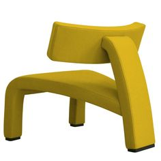 Red Devil in Yellow   Sandler Seating. Fully upholstered chair.