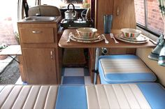 KIWesty Style Camper Interior from Kustom Interiors « Kustom Interiors – VW… Vw Bus, Vw T2 Camper, Kombi Motorhome, Camper Life, Volkswagen Interior, Bus Interior, Campervan Interior, Campervan Ideas, Interior Ideas