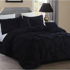 Black Comforter Sets, Queen Comforter Sets, Cozy Bedroom, Modern Bedroom, Bedroom Ideas, Skull Bedroom, Tribal Bedroom, Black Bedroom Decor, Black Bedroom Design