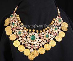 Pachi Necklace with Lakshmi Kasu - Jewellery Designs