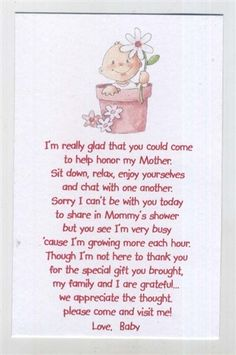 seed poems for babyshower | Baby Shower Favor Pink Baby in a Pot Seed Packet, girl Theme Keepsake ...