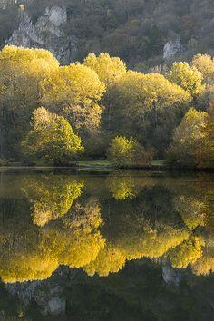 Autumn reflections - Dinant, Belgium by Bart Heirweg