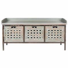 Safavieh Isaac 3-Drawer Wooden Storage Bench