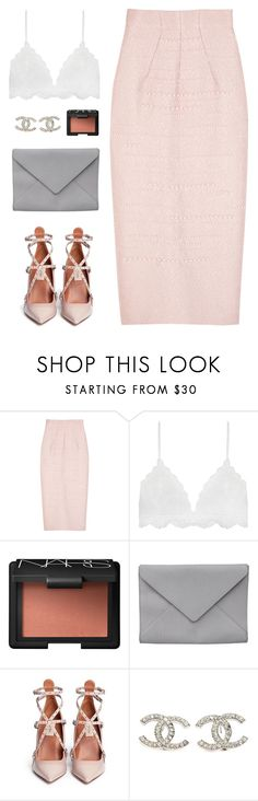 """""""XXIV XII MMXVII"""" by chelsjames ❤ liked on Polyvore featuring Emilia Wickstead, Serendipity, NARS Cosmetics, Ann Demeulemeester, Valentino and Chanel"""